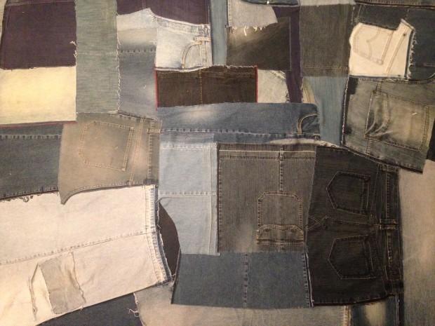 fertig kombinierte Jeansfläche für die Quilt-Vorderseite
